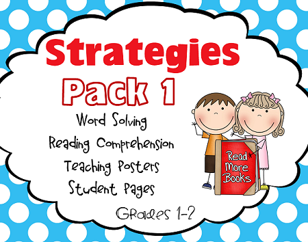 free reading strategies pack for word solving and comprehension
