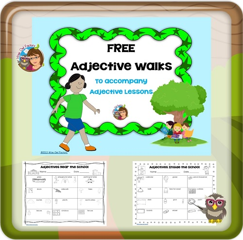 adjective-walks-around-the-school-work-pages-with-answer-key