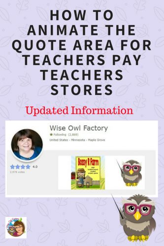 How to Animate Gifs in the Quote Area for TpT --- completely free way to make an animated gif for your Teachers Pay Teachers store -- PPtx