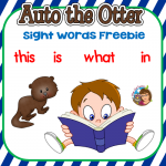 Auto the Otter Sight Words Freebie