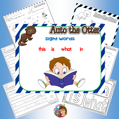 auto-otter-sight-words-work-pages