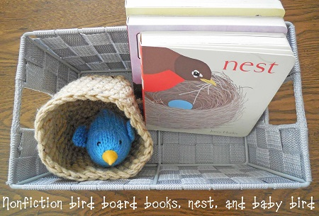 baby board books and next with yarn bird
