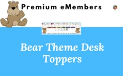 Bear Theme Desk Toppers