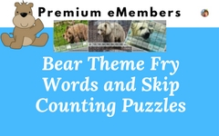 Bear Theme Fry Words and Skip Counting
