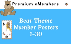 Bear Theme Number Posters