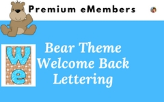 Bear Theme Welcome Back to School Large Lettering
