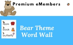 Premium Level Bear Theme Word Wall