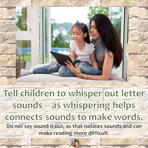 Oral Reading Fluency and Comprehension Issues blog post discussion with free printable bookmarks for parents of struggling readers. do-not-say-sound-it-out-say-whisper-it-out
