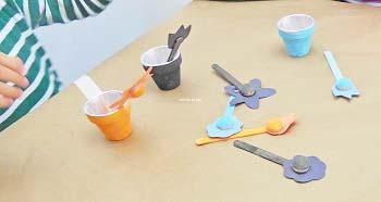 matching flower colors to flower pots activity