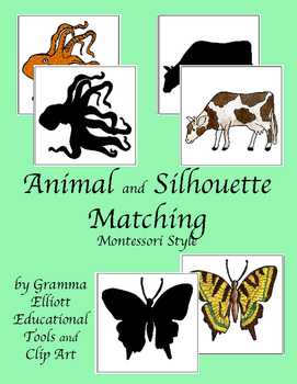 animal-and-silhouette-matching-montessori-style