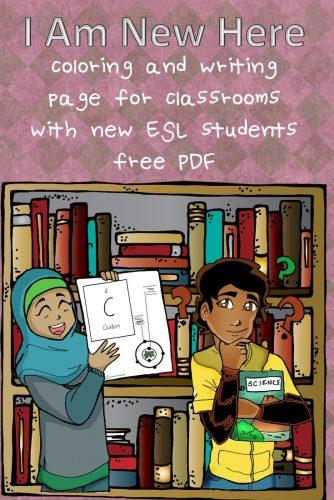 Color and Write PDF for Classes with New ESL Students free printable for classes with new students