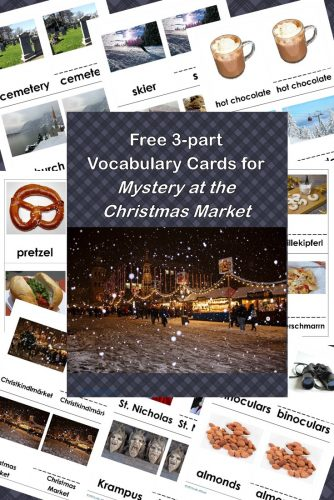 While all the family and visitors gather and have a wonderful holiday which includes skiing, a mystery is brewing! Free Vocabulary PDF