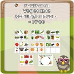 Fruit and Vegetable Sorting Cards for Subscribers