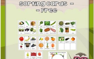 cards-to-sort-for-children-veggies-fruit
