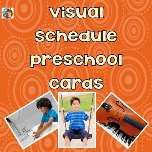 Visual Schedule Preschool Cards