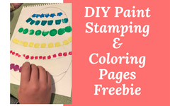 DIY Paint Stamping an Easter Egg Shape on Watercolor Paper and Coloring Pages Freebie