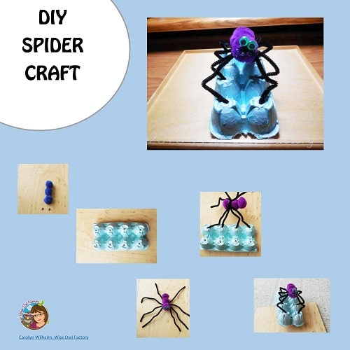 Spider-egg-carton-craft-with-egg-carton