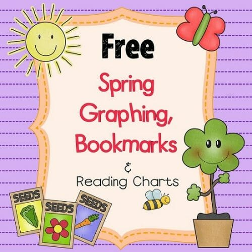 FREE Spring Earth Day Graphing, Bookmarks, and Reading Chart PDF