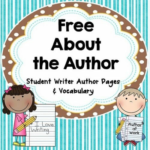 free about the author pages for publishing with student stories or reports
