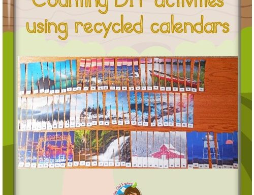 Math Activities with Recycled Calendars