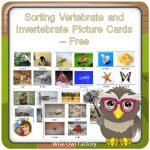 Invertebrates and Vertebrates Card Sort Free PDF