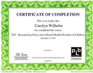 SS5 - Recognizing Early-onset Mental Health Disorders