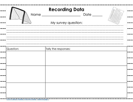 create your own survey question and data recording page