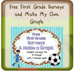 First Grade Surveys and Make My Own Graph, Sports Theme