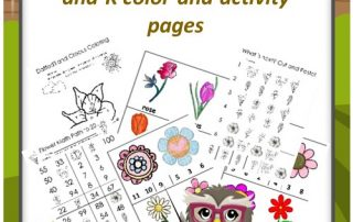 free-flower-theme-activity-and-color-pages PDF