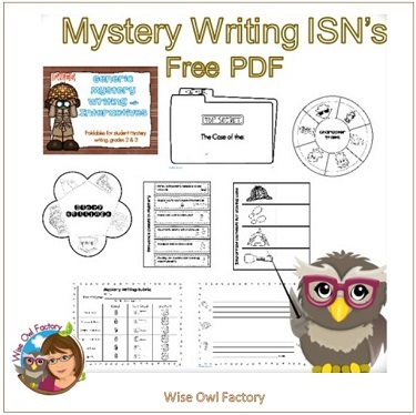Mystery Writing Generic ISNs for Grades 2 and 3 free
