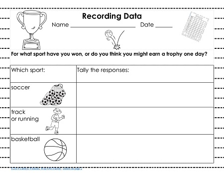data recording page