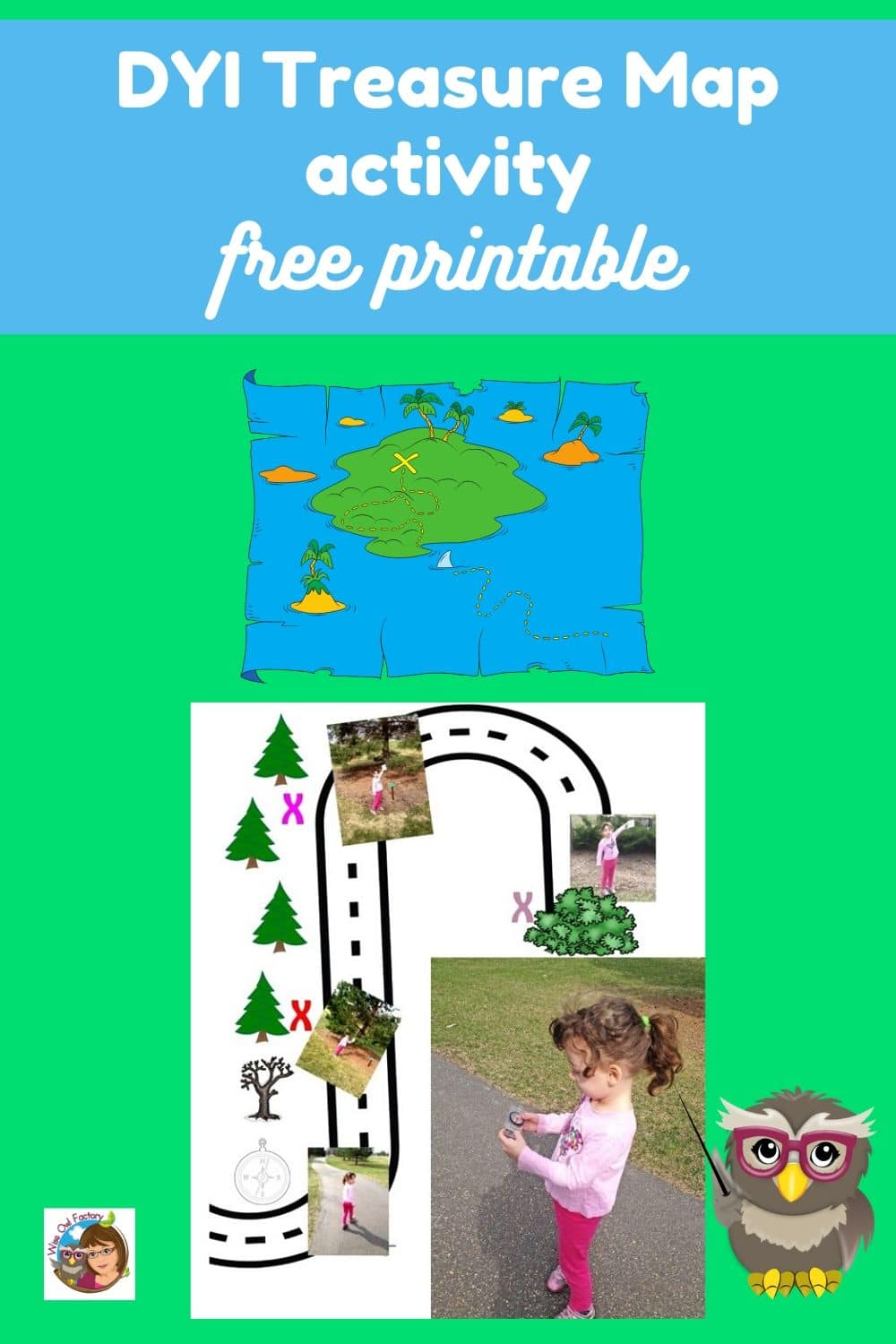 DIY Map Skills Treasure Hunt and Free PDF -- Activities for home and outdoors with free printable PDF to help create DIY maps.