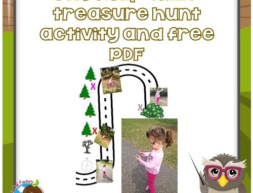 DIY Map Skills Treasure Hunt and Free PDF