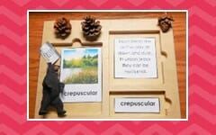 Standing Black Bear blog post with free printable and activities