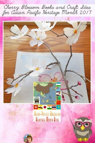 Asian-Pacific American Heritage Month -- This post is about two Cherry Blossom books for children as well as a craft idea to to make cherry blossoms. The free PDF has Pre-K sequencing cutting strips.