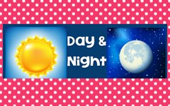 Day and Night Montessori Cards Freebie