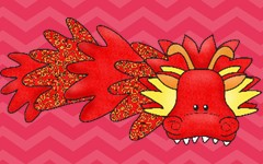 dragons printable is at this blog post link, and has both coloring pages as well as art ideas
