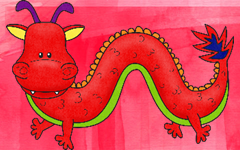 Horned Chinese Dragon Art Ideas and Free Coloring Pages