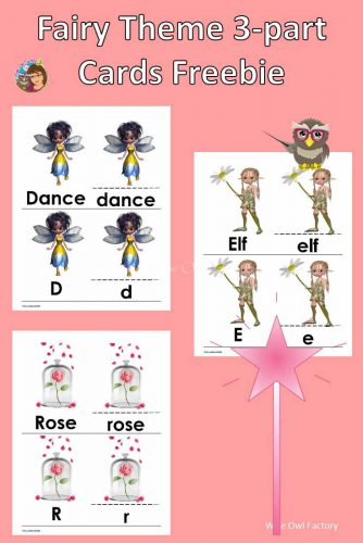 Fairy Theme 3-part Initial Sounds Alphabet Cards --this printable was inspired by a visit to the nature center for a fairy house building class.