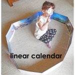 Linear Calendar Activities with Recycled Calendars