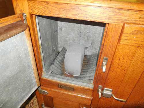 ice block in ice-house