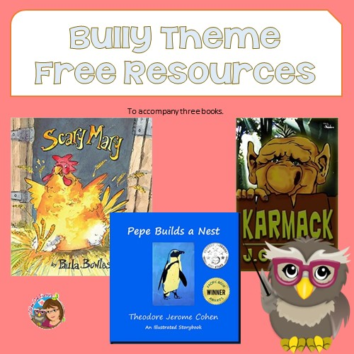 Bully Theme Books and Free Resources Round Up Post