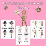 Fairy Theme 3-part Initial Sounds Alphabet Cards