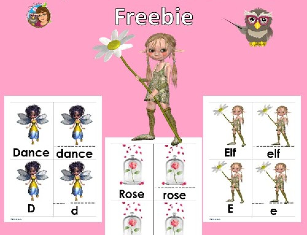 Fairy Theme 3-part Initial Sounds Alphabet Cards