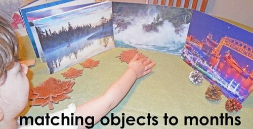 matching objects to calendar months