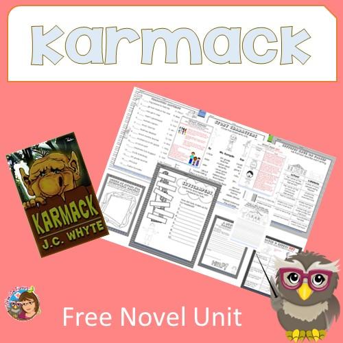 Karmack Free Novel Unit to Accompany Book