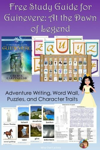 Guinevere: At the Dawn of Legend Book Two -- book review and free educational study guide for students with answer key for teachers