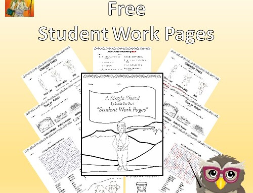 A Single Shard Book Review and Free Student Work Pages