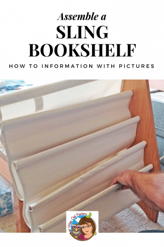 How to Assemble a Sling Bookshelf for Kids -- informational blog post with photos and step-by-step information