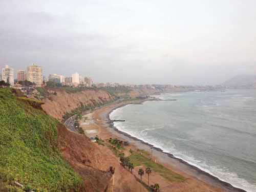 Lima, Peru is on the coast